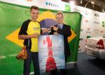 Eduardo Stabel (vencedor Wrap Cup Masters Series 2015) e Alexandre Keese, diretor APS Feiras